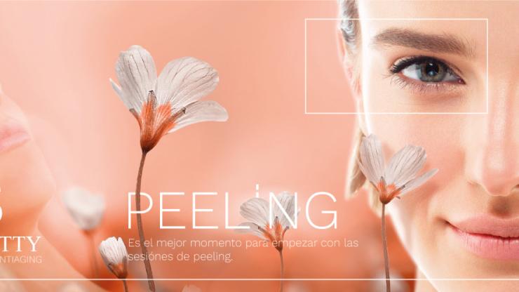 La palabra peeling significa acción de pelar