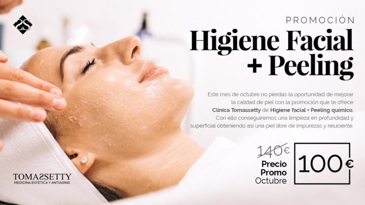 Promoción: Higiene facial + peeling